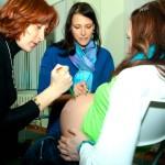 Рисуем на животе у беременной - курсы в Минске